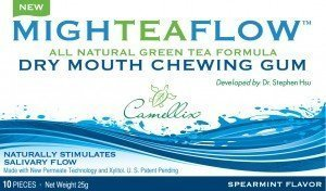 MighTeaFlow Spearmint Dry Mouth Chewing Gum