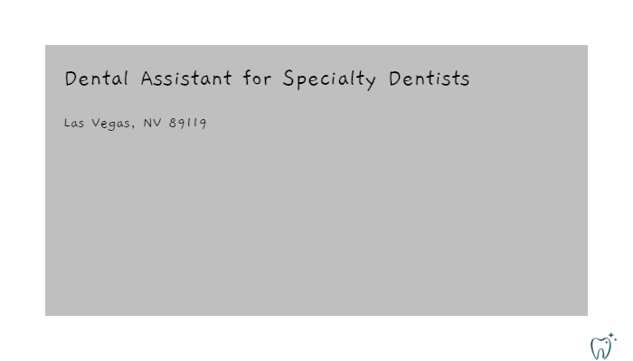 Dental Assistant For Specialty Dentists Interdent Service