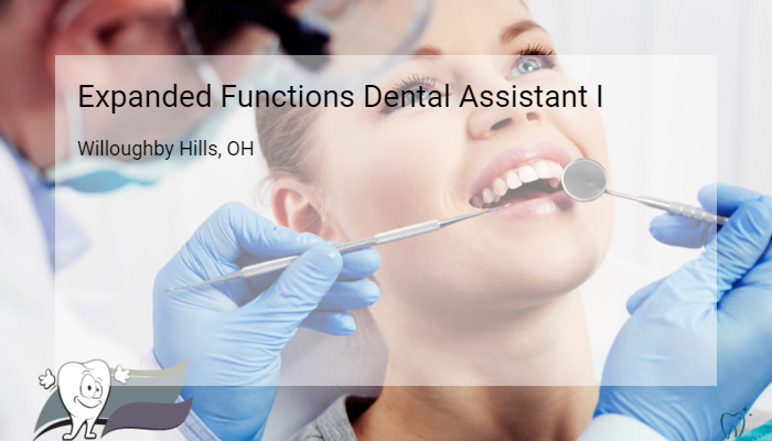 Expanded Functions Dental Assistant I All Medical Personnel